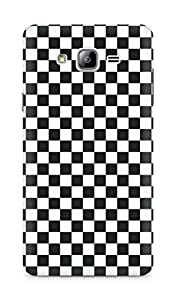 AMEZ Black n White Pattern4 Back Cover For Samsung Galaxy ON7