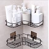 YUNKE organizer prysznicowy do przechowywania, półki łazienkowe, z nierdzewną naklejką samoprzylepną ze stali nierdzewnej do