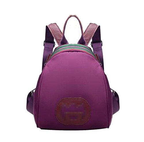 Ms Nylon Conciso Arder Zaino Urban Style Multicolore Purple