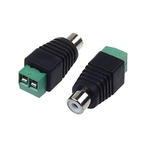 GAOHOU 1 Paar RCA Stecker Adapter Set, Cinch Kabel Buchse Lautsprecherkabel zum weiblichen männlichen RCA Audio/Video Connector Adapter
