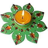 Special Diwali Collection : Handcrafted Tealight Floating Candle /Diya / Diwali Diya For Home Décor And Diwali Gifting 4.5 Inch (Green Pack Of 1)