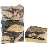 1 pezzo Cioccolato & Cocco Latte Sapone 100% Naturale Fatto A Mano aprox.120g