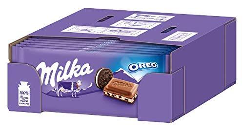 Milka & Oreo - Zartschmelzende Schokoladentafel mit original Oreo-Keksstückchen - 22 x 100g