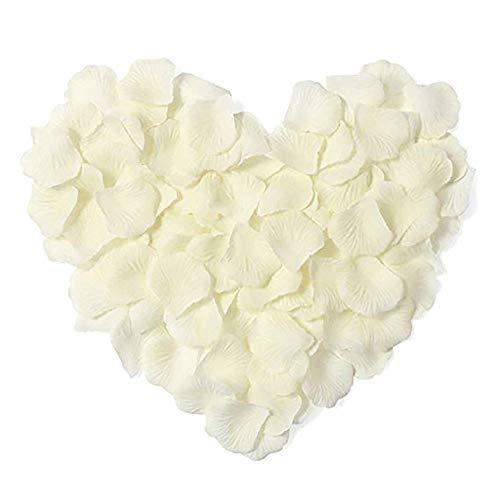 Sprießen 3000pcs petali di rosa,petali di rosa finti coriandoli, petali di seta per decorazione di matrimonio, decorazioni di san valentino, proposta di matrimonio(bianco)