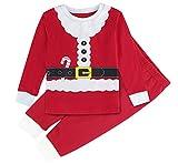 Mombebe Pijamas Niño Natale Infantil Inverno Ropa Set (Papá Noel, 2 años)