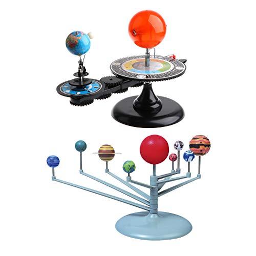 Homyl Juguete Educativo Niños Modelo de Sistema Solar + Sistema Plane