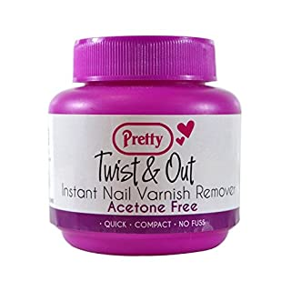 Pretty Twist and Out Acetone Free Nail Varnish Remover 55 ml