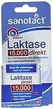 sanotact Laktase 15.000 FCC Tabletten - 40 Stk. / Nahrungsergänzungsmittel mit Laktase / Zur Verdauung von Milchzucker bei Laktoseintoleranz / Tabletten-Box