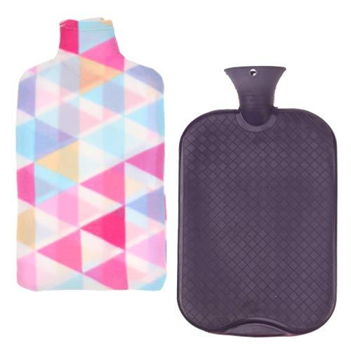 Baoblaze Große Wärmflasche mit Bezug 3 Liter, Robust und Sicher, das perfekte Geschenk - Lila