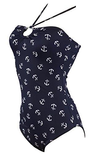 Aloha-Beachwear Damen Badeanzug A1010 Blau Gr. 38