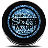 Paint Glow Shake Me UP! Holographic Glitter Shaker Blue with Fix Gel