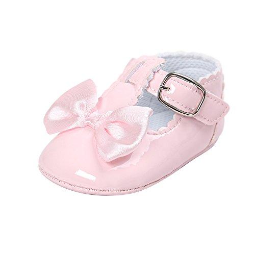 Mokassins Baby Rosa (Baby Mädchen Leder T-Strap Schuhe Kleinkind Prinzessin Party Schuhe Rosa 12-18 Monate)