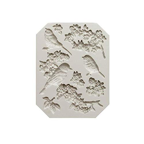 Loving bird Animal Bird Plum Blossom Candy Mold Rose Flower Butterfly Sugar Cake Mold Dry Pepper Mold DIY Baking Tools h171,h171 Bird Nordic Ware Candy