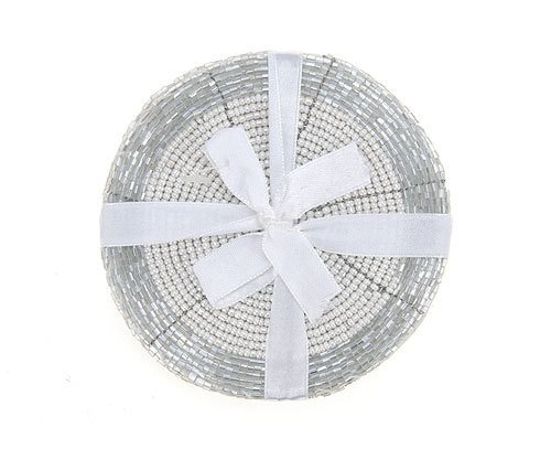 Untersetzer Perle (Glasuntersetzer Perlen Untersetzer Set 4-tlg 11cm)