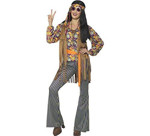 Sängerin Jahre Für Kostüm Erwachsenen 60er - Generique - Hippie-Sängerin-Kostüm für Damen 60er-Jahre