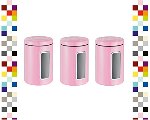 WESCO 321206-26-3 Set Vorratsdose Classic Line Rund PINK Keksdose Kaffeedose
