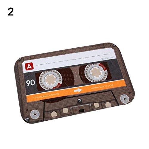 Pengyu Retro Creative Cassette - Felpudo de Cocina (40 x 60 cm), 2#, Talla única