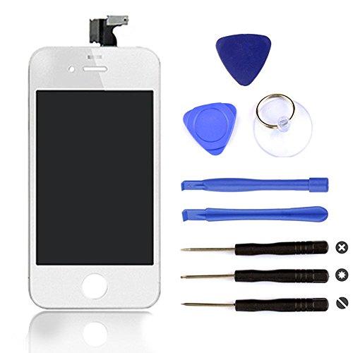BPS Pantalla táctil LCD para iPhone 4 , con Kit de herramientas gratuito, Color Blanco