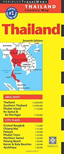 Thailand Travel Map (Periplus Country Maps)