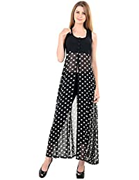 ad2c2a6a9f4 Raabta Fashion Women s Georgette Yoge with Polka Dotted Cape Long Dress  (RDW 137