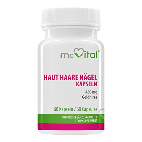 Haut-Haare-Nägel - 450 mg - Schöne Haut, Kräftige Nägel, Straffes Haar - 60 Kapseln