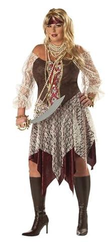 South Seas Siren Pirate Costume (Plus Size) - Dress 16