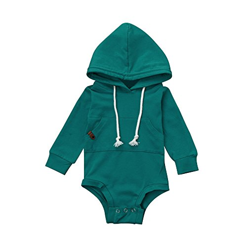 Uomogo felpa con cappuccio infantile cappotto incappucciato da neonati bambini - body neonata - felpa neonata - t shirt neonata - 6-24 mesi
