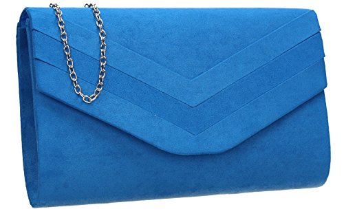 SwankySwans , Damen Clutch One Size Blau