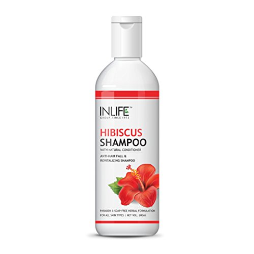 INLIFE Hibiscus Shampoo, Soap and Paraben Free - 200 ml