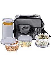Milton Meal Combi Plastic Lunch Box Set, Grey