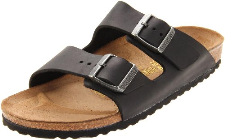 BIRKENSTOCK Classic ARIZONA Unisex Erwachsene PantolettenBIRKENSTOCK Arizona Black Leather Sandals Billig und erschwinglich Im Verkauf