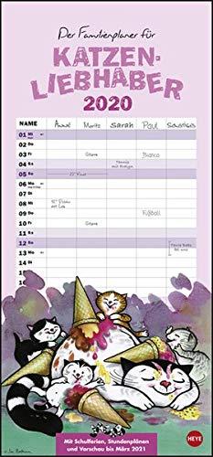 Jacob Familienplaner für Katzenliebhaber Kalender 2020