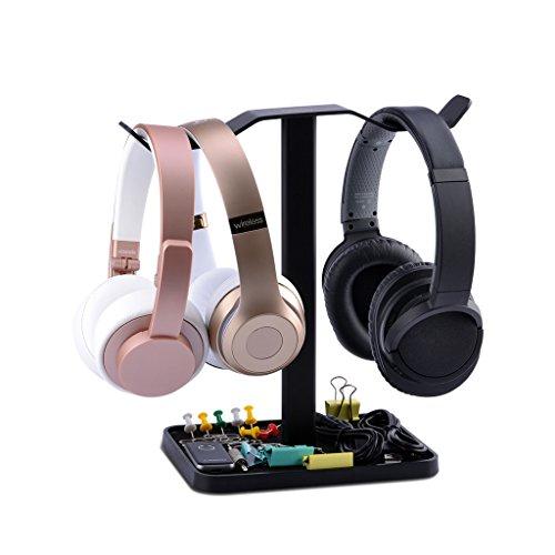 Neetto Soporte para Auriculares Dobles de Mesa