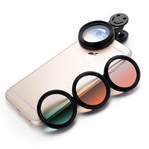 zuanshiyan Handy Kamera Schrittweise Farbe Objektiv X4Filter Polarisiert Kreis Blatt Transparent Film Spiegel Smile Clip für iPhone 6S Plus Samsung die Meisten Smart Phone Peripheriegeräte