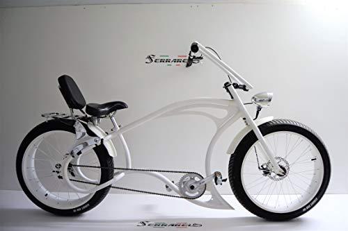 Cicli Ferrareis Bici Chopper Fat Bike 26 Bianco Cruiser Bike Custom Bike Personalizzabile