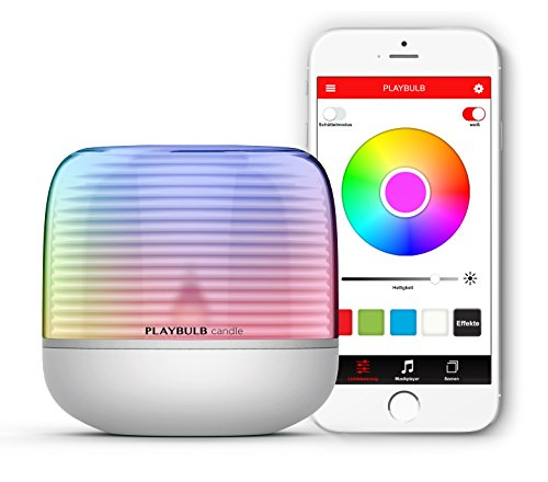 MiPow Playbulb Candle 2 - LED Tea Light with App Control (Bluetooth), Wireless via Battery (3X AA), Over 16 Million Colours and Effects