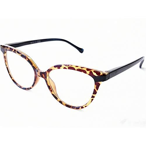 Marc Andrews Design Lesebrille Cat Eye Schmetterlingsform Retro Nerd Lesehilfe Stylish (1.5, braun schwarz) (Damen Lesebrille Cat Eye)
