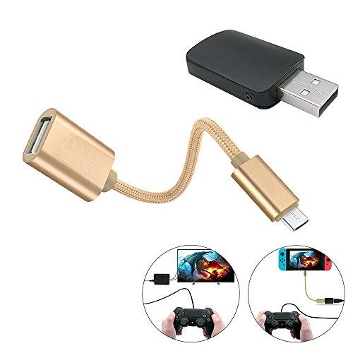 iDeep Controller Konverter für Nintendo Switch, U89OTG Adapter Kabel Macht PS3/PS4DUALSHOCK/Xbox 360/One Controller und Schalter Konverter Unterstützung TV/-Modus Kompatibel mit Nintendo Switch (Macht Ein Controller-xbox 360)
