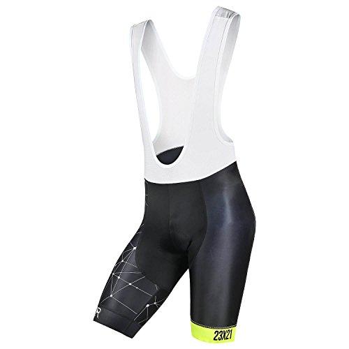 SKYSPER Salopette da Ciclismo Professionale, Uomo Pantalocini da Ciclismo Traspirante con Cuscino Comfortevole