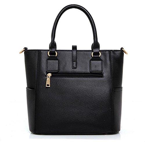Damen Drei Sätze Von Sub-Paket Tasche Schultertasche Messenger Bag Handtasche Karte Tasche Hand Tasche Hardware Reißverschluss White