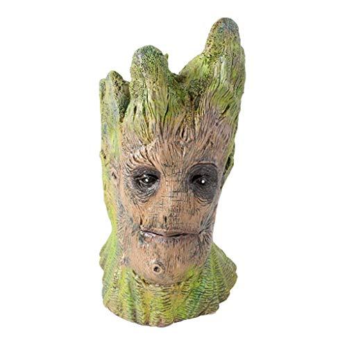 Groot Kostüm Für Erwachsenen - Guardians Of The Galaxy Deluxe Erwachsene Groot Maske Marvel Avengers 3: Unendlichkeitskrieg Masken Little Tree Man Maske Kostüm Halloween Cosplay Maskerade Weihnachtsfeier Parteien Green-OneSize