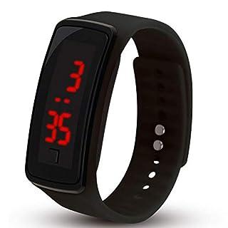 NaiCasy Kinder-Digital-Armbanduhr-Touch Screen LED Sportuhr-Armbanduhr-Schwarz