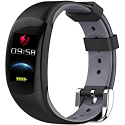 ZY LEMFO LT02 Pulsera Inteligente Pantalla A Color IP67 Impermeable Bluetooth Deportes Ritmo Cardíaco Monitoreo De Vibración,Gray