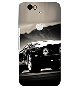 PrintDhaba CONCEPT CAR D-6748 Back Case Cover for HUAWEI NEXUS 6P (Multi-Coloured)