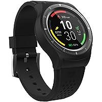 Wee'Plug Explorer Montre connectée/Tracker d'activité avec Puce GPS intégrée Mixte Adulte, Noir