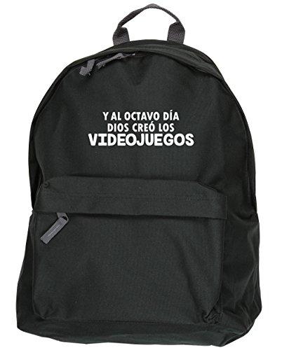 HippoWarehouse Y Al Octavo Día Dios Creó Los Videojuegos kit mochila Dimensiones: 31 x 42 x 21 cm Capacidad: 18 litros