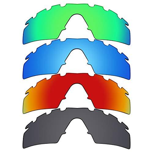 Mryok polarisierte Ersatzgläser für Oakley M Frame Strike Sonnenbrillen - Stealth Black/Fire Red/Ice Blue/Emerald Green