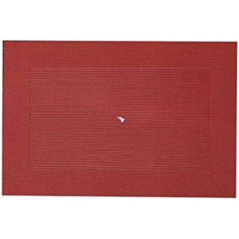 KAIMO isolamento termico in tessuto Tweed, in vinile, facile da pulire, resistente alle macchie e lavabile per cucina, in PVC, VI-Tovagliette da tavola, 18 cm x 29,46 (11,6