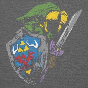 NERDO - Rough Painting Link - Herren T-Shirt Grau