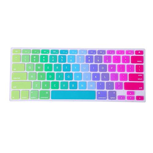 er, ttrees Silikon Tastatur Haut umfasst die Colorful Aufkleber Protector (US Layout) für MacBook Pro 33cm 38,1cm 43,2cm (mit oder ohne Retina Display) und MacBook Air 33cm Laptops ()